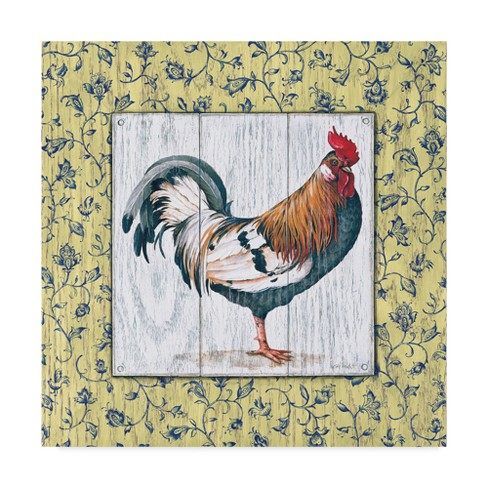"Lisa Audit Rustic Rooster 1 Unframed Wall 24""x24"" - Trademark Fine Art - image 1 of 3"