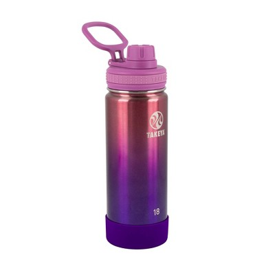 Takeya 18oz Actives Insulated Stainless Steel Water Bottle with Spout Lid - Pink