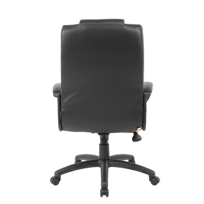 Executive High Back Leatherplus Chair Black - Boss Office Products : Target