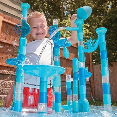 MindWare 125 Piece Aqua Maze Marble Run Toys