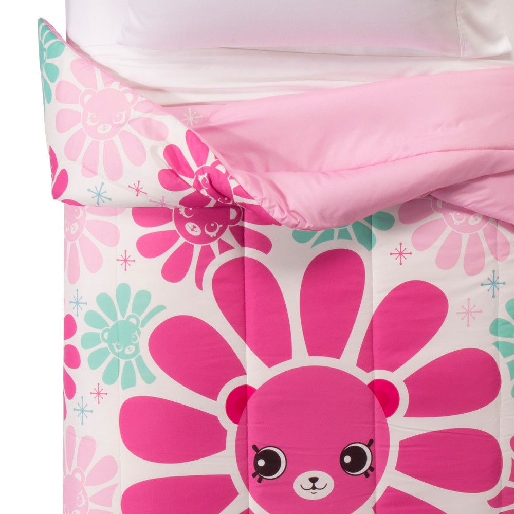 Image of Shopkins Happy Places Pink & Blue Comforter (Twin), Blue Pink