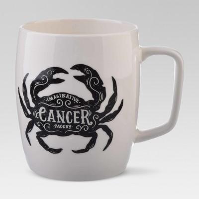 Porcelain Zodiac Cancer Mug 18oz White - Threshold™