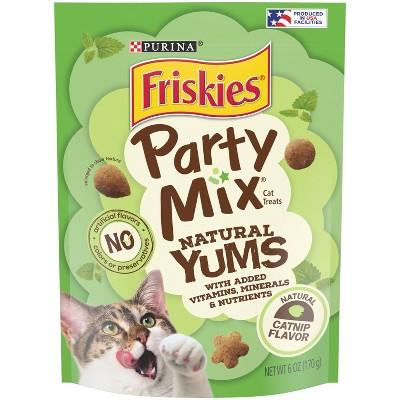 Purina Friskies Party Mix Catnip Natural Yums Crunchy Cat Treats
