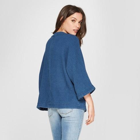 364365584f Women s Denim Kimono - Universal Thread™ Medium Wash S   Target
