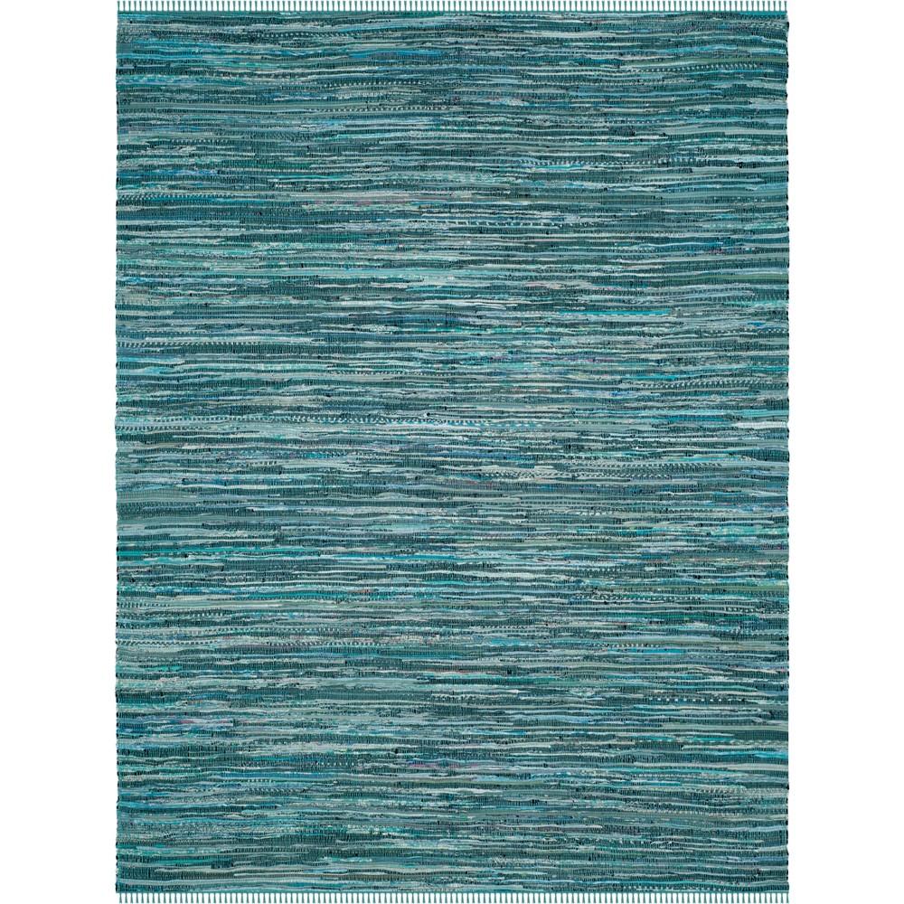 10'X14' Spacedye Design Woven Area Rug Turquoise - Safavieh, Turquoise/Multi-Colored