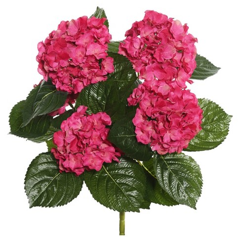 "Artificial Hydrangea Bush (17.5"") Hot Pink - Vickerman - image 1 of 1"