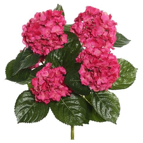 Artificial Hydrangea Bush 175 Hot Pink Vickerman Target