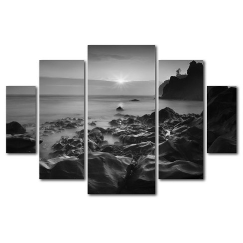 'Sunset At Ruby Beach' by Moises Levy Ready to Hang Multi Panel Art Set - image 1 of 3