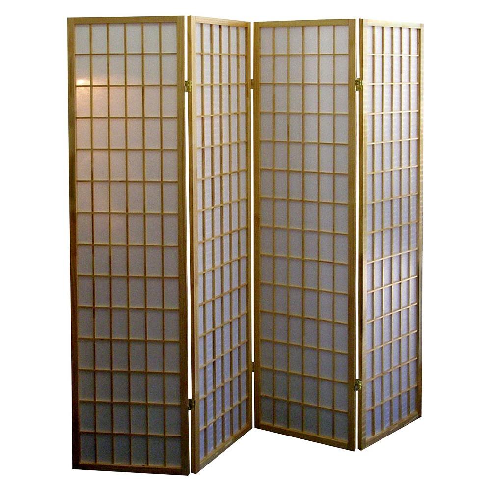 Image of 4 Panel Room Divider Natural - Ore International, Beige