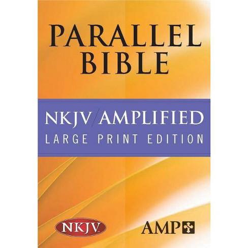 Parallel Bible-PR-Am/NKJV-Large Print - (Leather_bound) - image 1 of 1