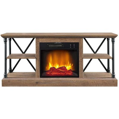 HearthPro Sheffield Electric Fireplace TV Stand in Driftwood - SP6550-OF