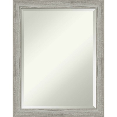 "22"" x 28"" Dove Graywash Framed Bathroom Vanity Wall Mirror - Amanti Art"