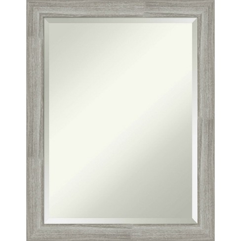 22 X 28 Dove Graywash Framed Bathroom Vanity Wall Mirror Amanti Art Target