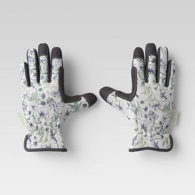 Duck Canvas Work Gloves Vine Floral Gray - Smith & Hawken™