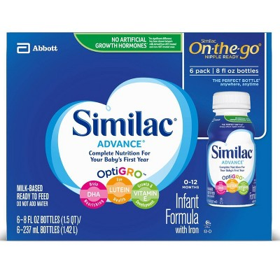 Similac Advance Infant Formula with Iron Bottles - 6ct/8 fl oz Each