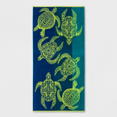 XL Turtle Beach Towel Blue/Green - Sun Squad™