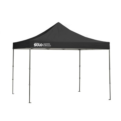Quik Shade Solo Steel 10x10 Straight Leg Canopy - Black
