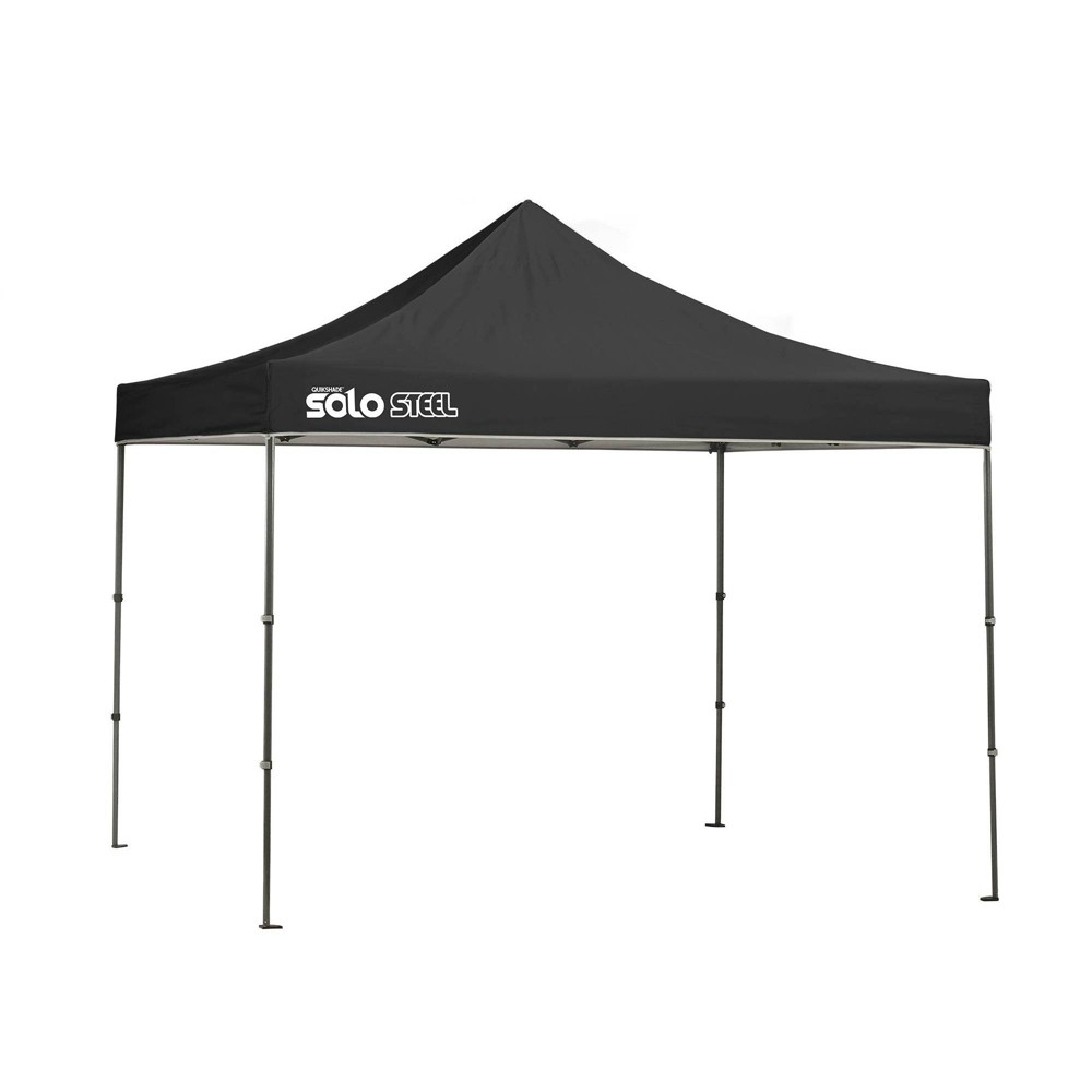 Image of Quik Shade Solo Steel 10x10 Straight Leg Canopy - Black