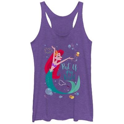 Women's The Little Mermaid Ariel Part of Your World Dance Racerback Tank Top