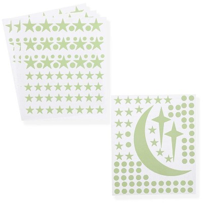 Bright Creations 319 Pack Glow in The Dark Stars Moon Home Wall Stickers, Adhesive Dots for Ceiling Decor