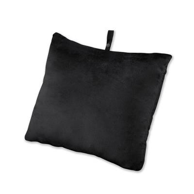Brookstone Rectangle Memory Foam Travel Pillow - Black