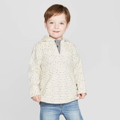 Genuine Kids® from OshKosh Toddler Boy Dash Print Baja Pullover Ponchos - Cream 12M