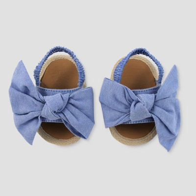 Baby Girls' Espadrille Sandals - Cat & Jack™ Blue 0-3M