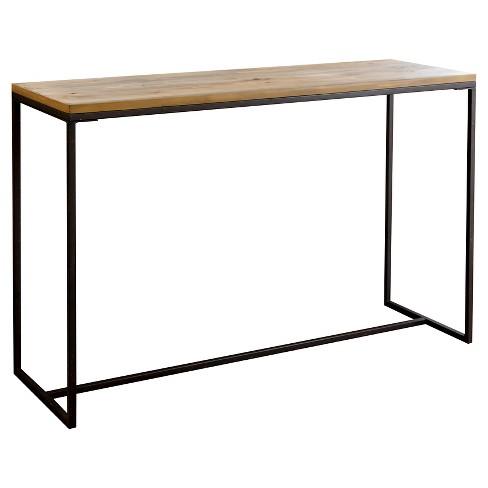 Kirkwood Sofa Table Natural Wood Abbyson Living
