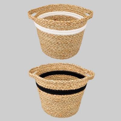 "2ct Woven Grass 6.5"" Decorative Basket Set - Bullseye's Playground™"