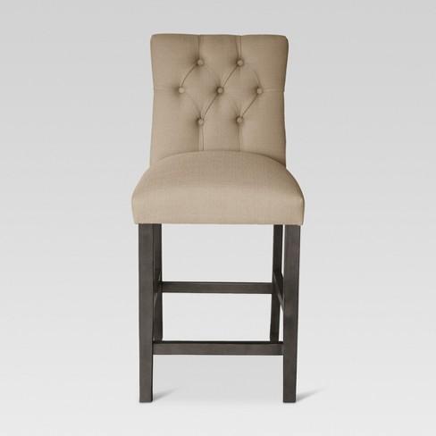 Fine 24 Brookline Tufted Counter Stool Beige Oyster Threshold Machost Co Dining Chair Design Ideas Machostcouk