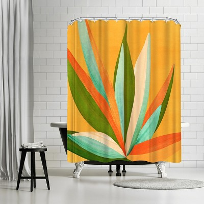 """Americanflat Minimalist Agave Textured3 by Modern Tropical 71"""" x 74"""" Shower Curtain"""