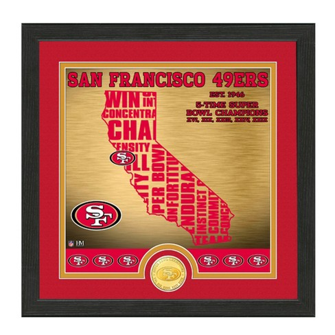 d6f32f14 NFL San Francisco 49ers Highland Mint State Bronze Coin Photo Mint ...