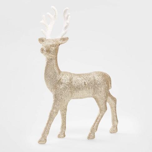 Glitter Deer Decorative Figurine Gold - Wondershop™ - image 1 of 2
