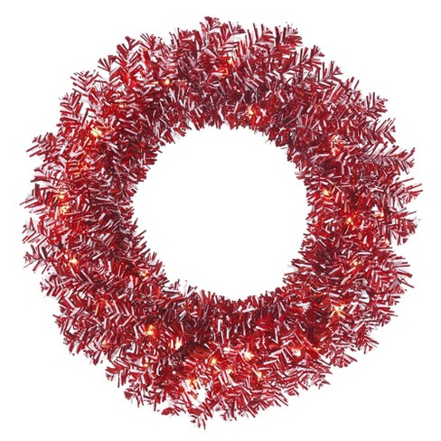 Red And White Christmas Wreath.Vickerman 30 Unlit Red White Candy Cane Artificial Christmas Wreath
