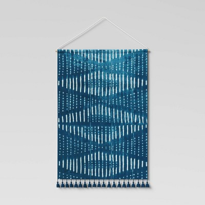 """24"""" x 36"""" Wall Tapestry with Tassels Blue - Threshold™"""