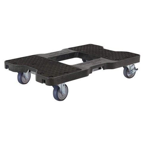 Snap Loc 1,200 lb Capacity General Purpose E Track Dolly Black, Heavy Duty 4 in Thermoplastic Swivel Non Marking Caster Wheels - image 1 of 4