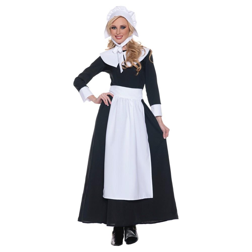 Women's Pilgrim Woman Costume - Small, Black