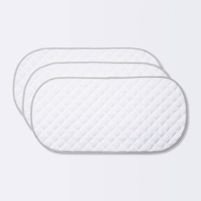 Changing Pad Liner White with Gray Edge - Cloud Island™ 3pk