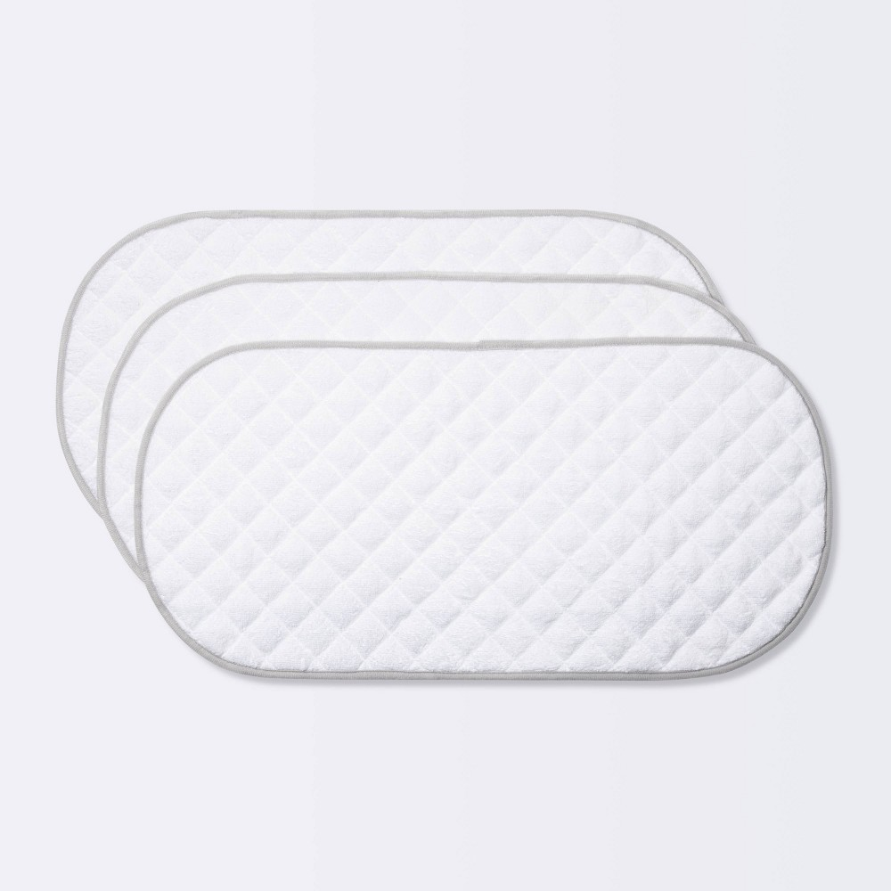 Changing Pad Liner White With Gray Edge Cloud Island 8482 3pk