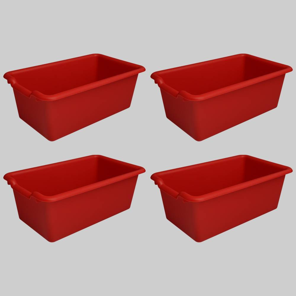 4ct Plastic Bins Red - Bullseye's Playground was $12.0 now $6.0 (50.0% off)