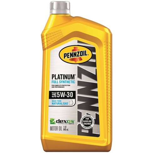 Whats The Difference Between 5w20 And 5w30 >> Pennzoil Platinum Full Synthetic 5w 30