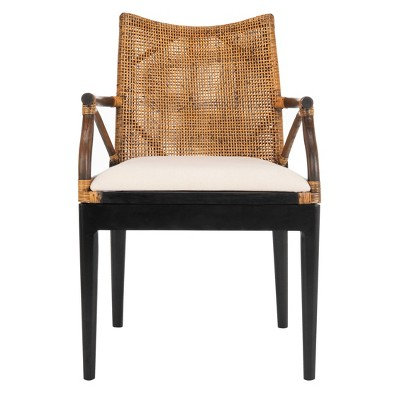 Dining Chair Wood/Brown/White - Safavieh