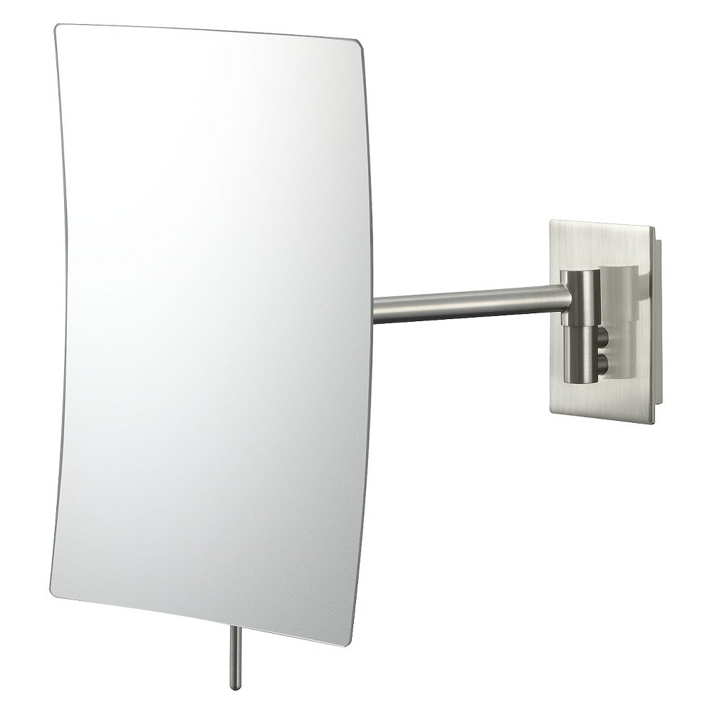 "Image of ""Mirror Image Minimalist Rectangular Wall Mirror 5""""x8"""" Brushed Nickel - Aptations"""
