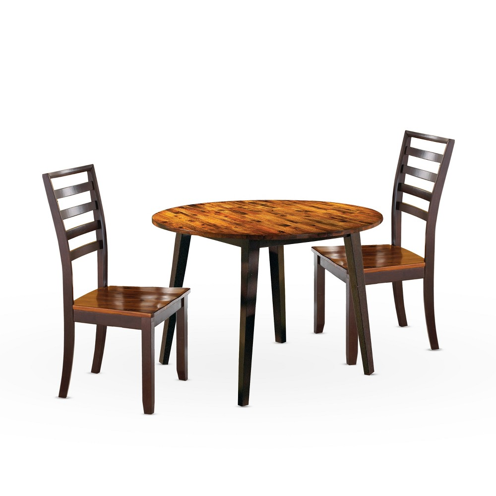 3pc Blair Dining Set Cherry (Red) - Steve Silver