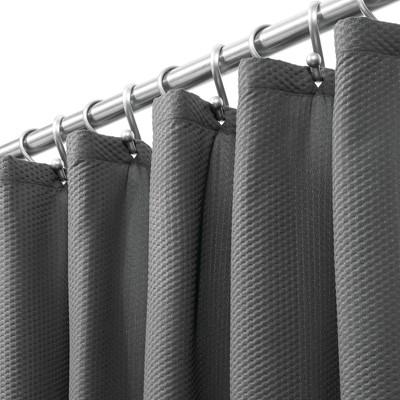 mDesign Decorative Microfiber Embossed Fabric Shower Curtain