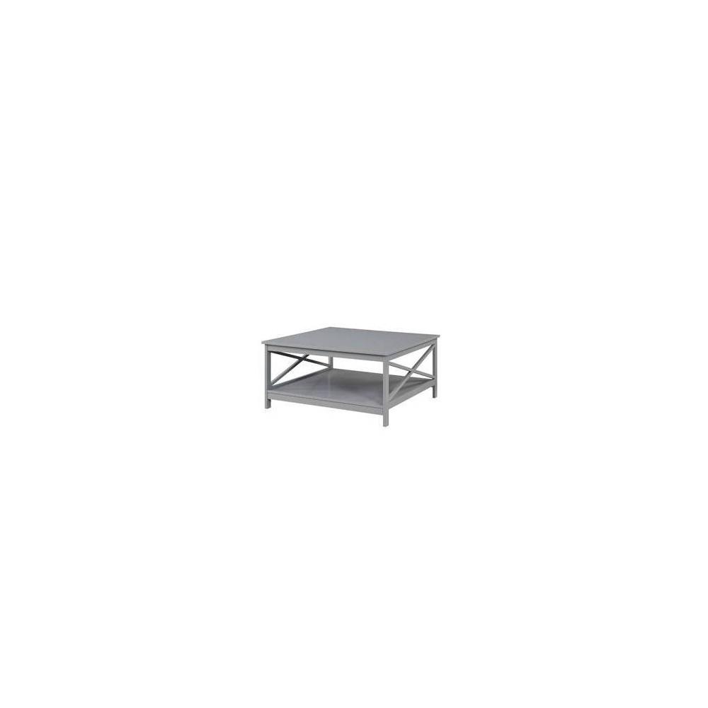 "Image of ""36"""" Oxford Square Coffee Table Gray - Johar Furniture"""