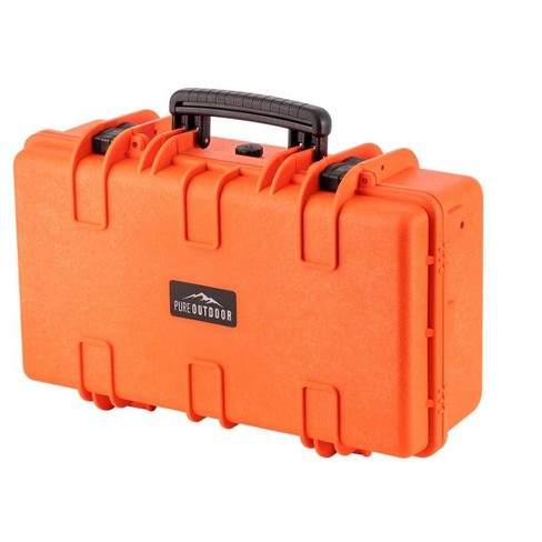 Monoprice Weatherproof Hard Case - 22in x 14in x 8in, Orange With Customizable Foam, Shockproof, IP67 - image 1 of 4