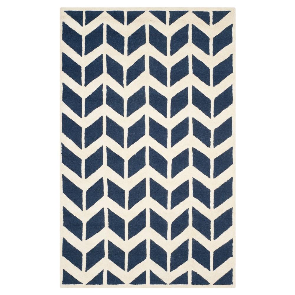 Keene Rug - Navy / Ivory (6'X9') - Safavieh, Blue/Ivory