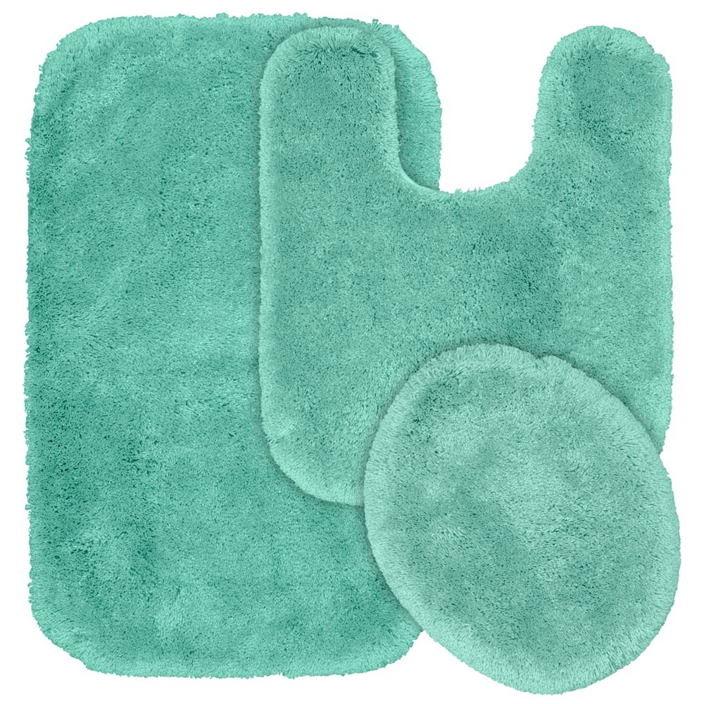 3Pc Finest Luxury Ultra Plush Washable Nylon Bathroom Rug Set Sea Foam - Garland was $69.99 now $48.49 (31.0% off)