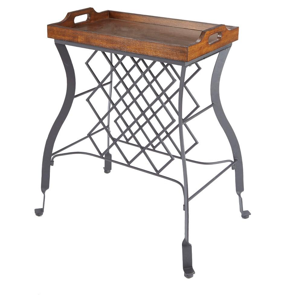 Hawthorne Console Table and Wine Rack - Bronze - Silverwood, Golden Bronze